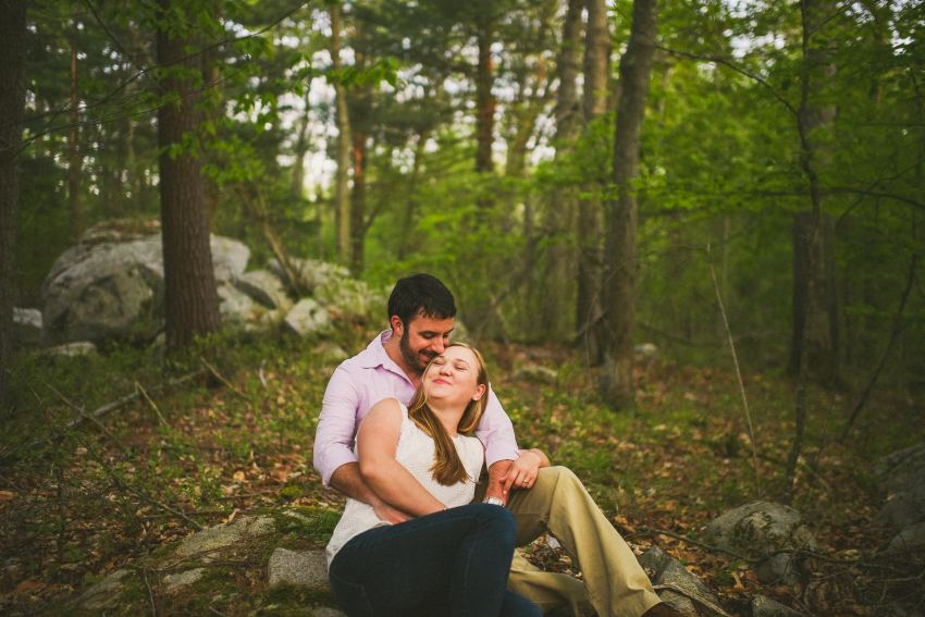 forest spring engagement sessions