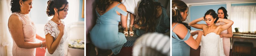 Felton house wedding preparation