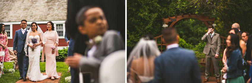 Emotional Smith Barn wedding processional