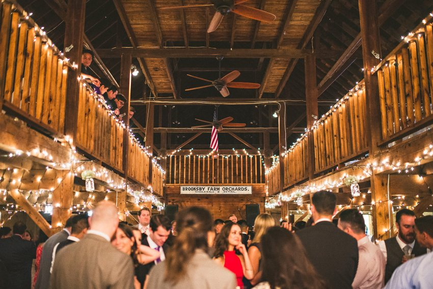 Brooksby farm wedding reception