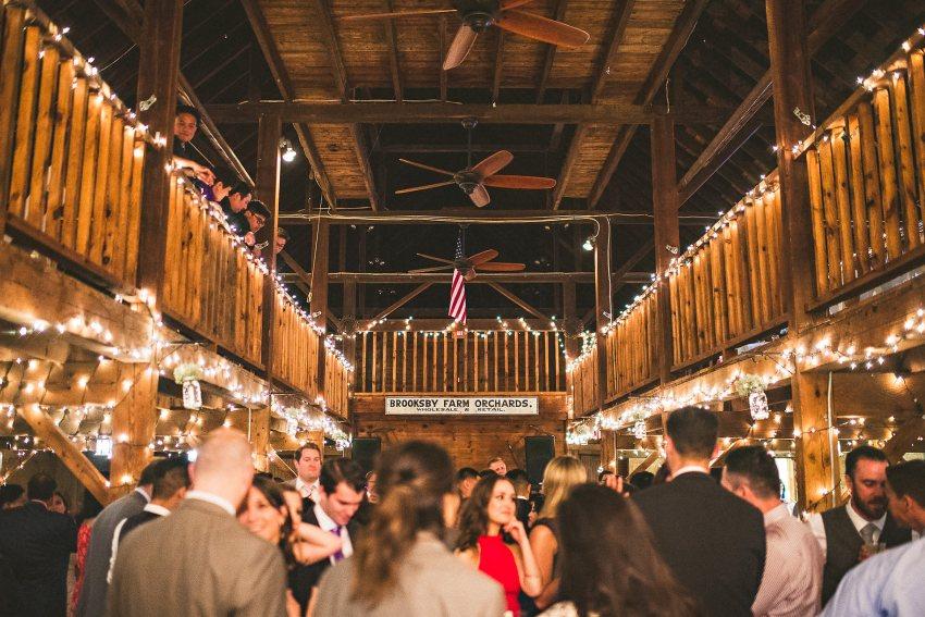Brooksby farm wedding reception