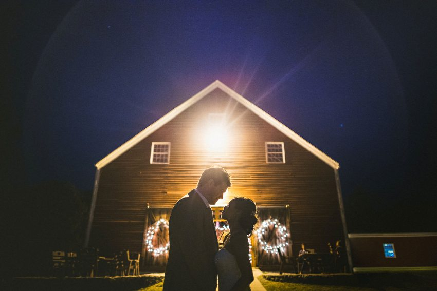 Smith Barn wedding silhouette