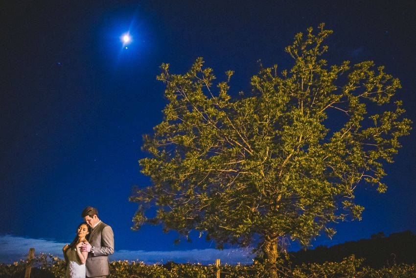 Smith Barn night wedding portraits