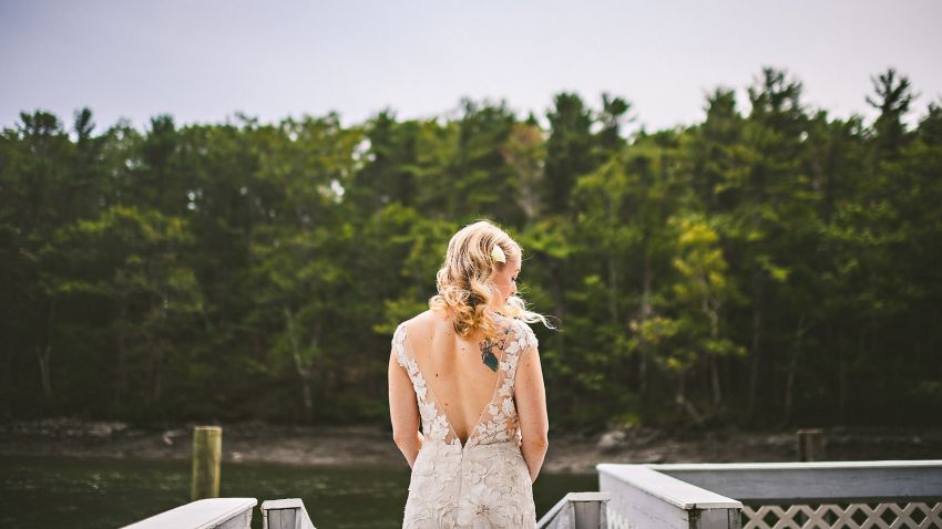 Bridal portrait in Kittery