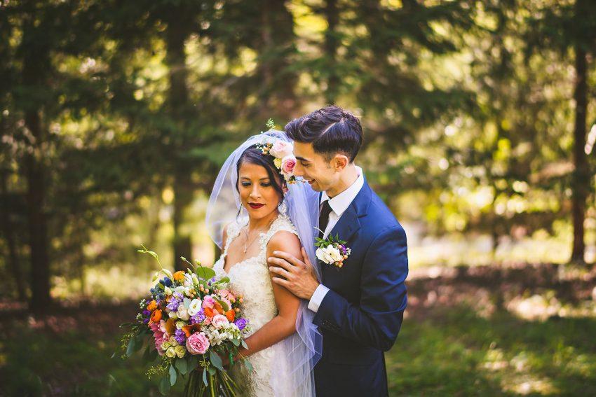 Intimate Rhode Island backyard wedding photo