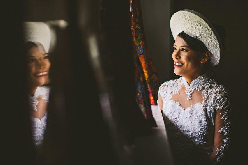 Vietnamese bride wedding portrait