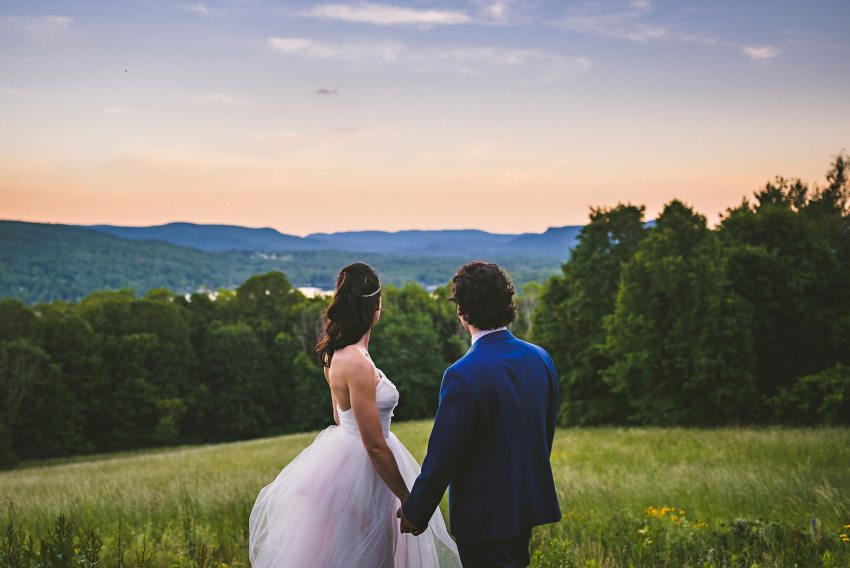 Berkshires sunset wedding portraits