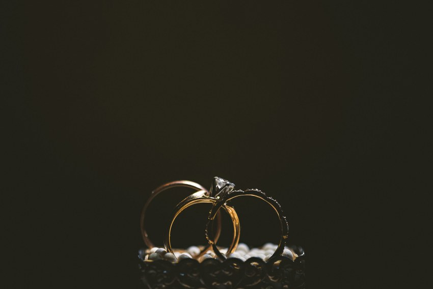 Dramatic wedding ring photo