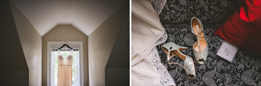 Bridal preparation details in private home
