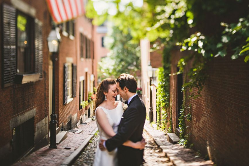 Acorn Street wedding portraits