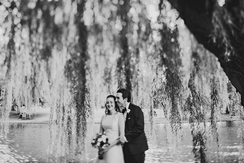 Boston Public Garden wedding photos