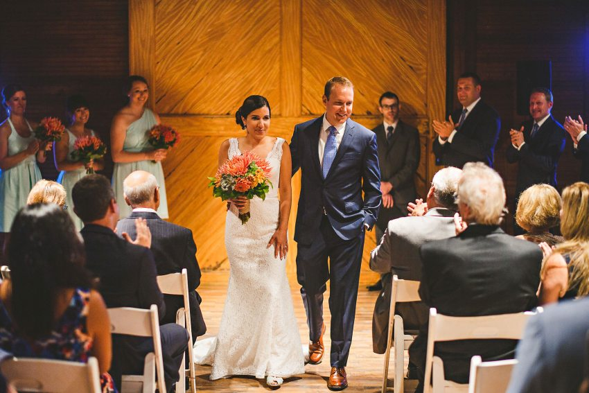Codman Estate wedding recessional
