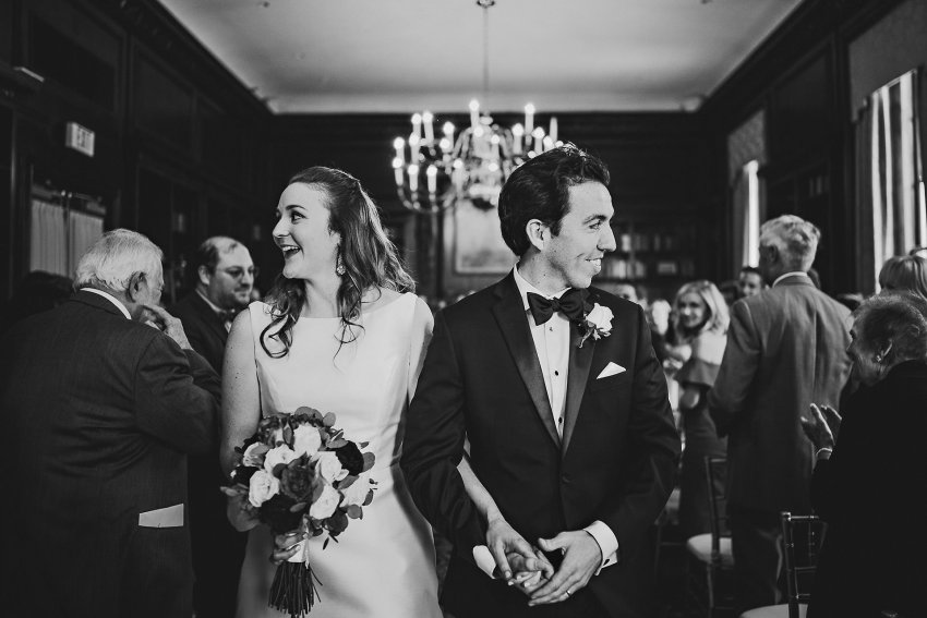 Hampshire House wedding ceremony recessional