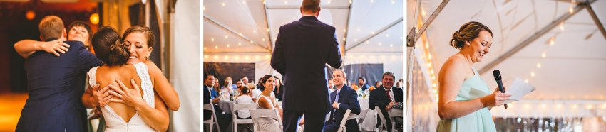 Wedding party toasts at Codman Estate