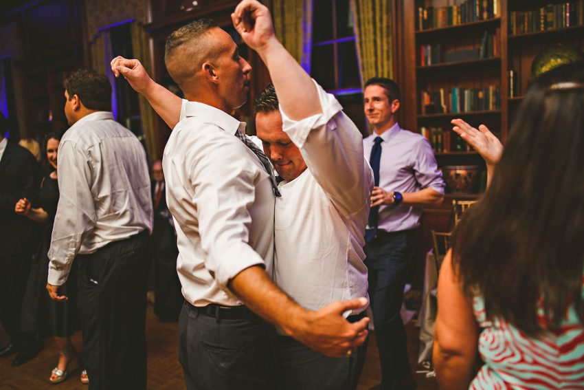 Groomsman dancing at Beacon Hill wedding