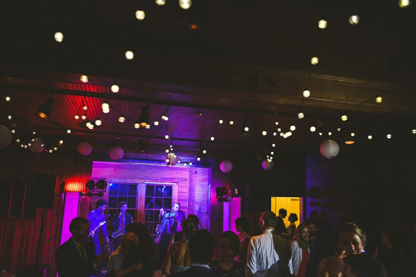Creative wedding dance floor portrait