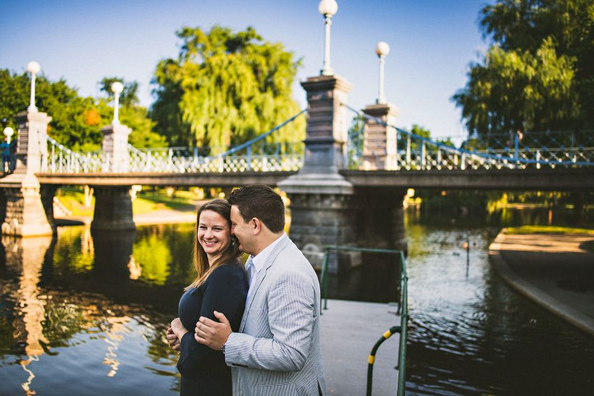 Boston public garden esession portrait
