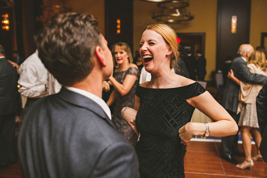 Groom's sister dancing at Liberty Hotel wedding