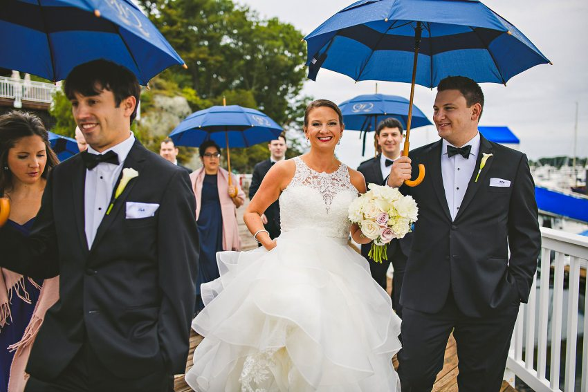 Wedding party umbrellas
