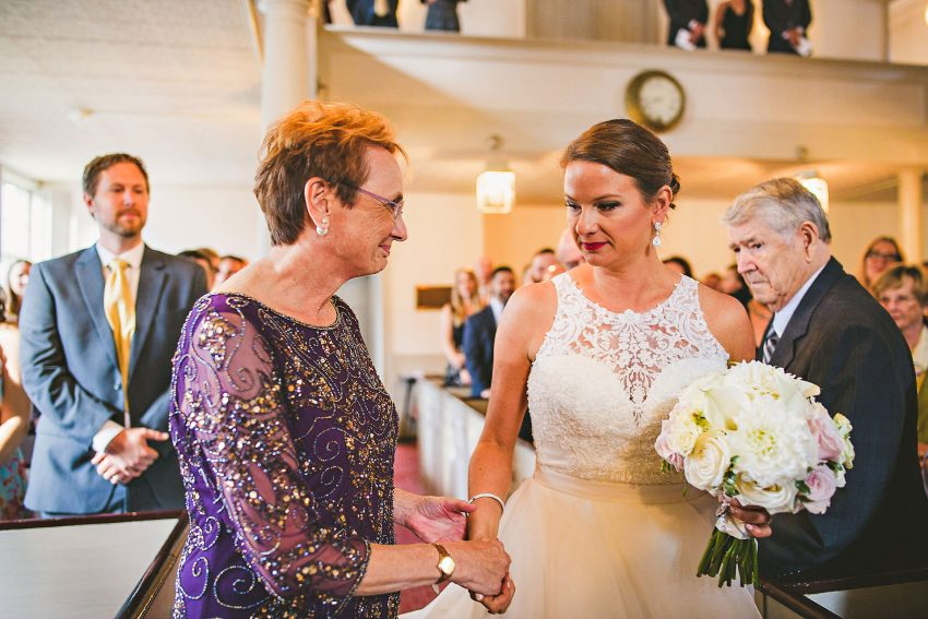 Emotional Portsmouth wedding processional