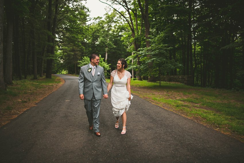 Couple walking at Longhill Estate