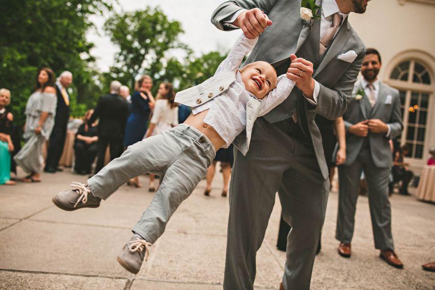 Wedding guests dancing in Connecticut