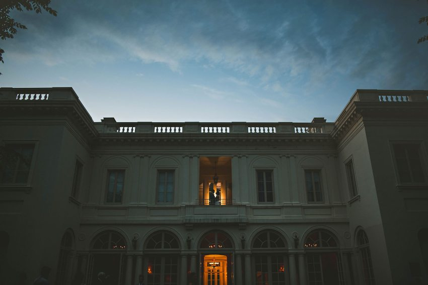 Sunset wedding portraits at Wadsworth Mansion