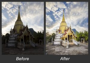 Before and After - Chiang Dao Caves, Thailand - Alex Pullen Photography