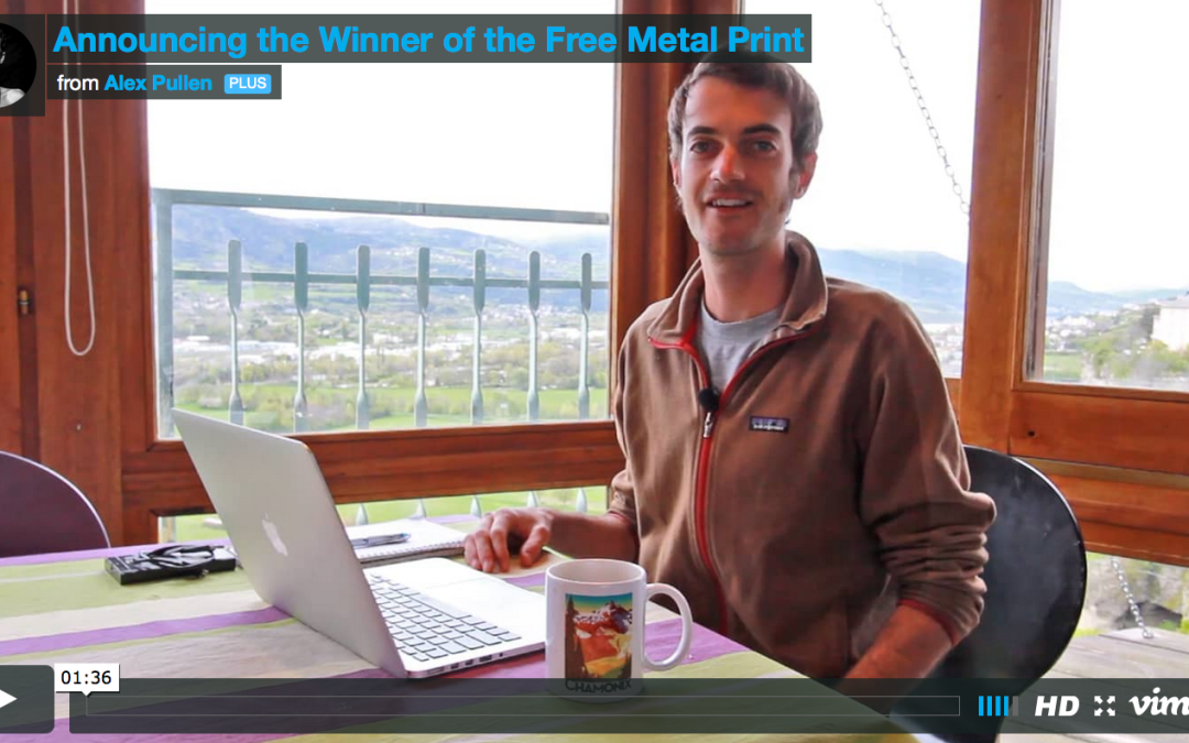 Announcing the Winner of the Free Metal Print!
