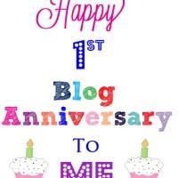 Happy One Year Blogaversary!!