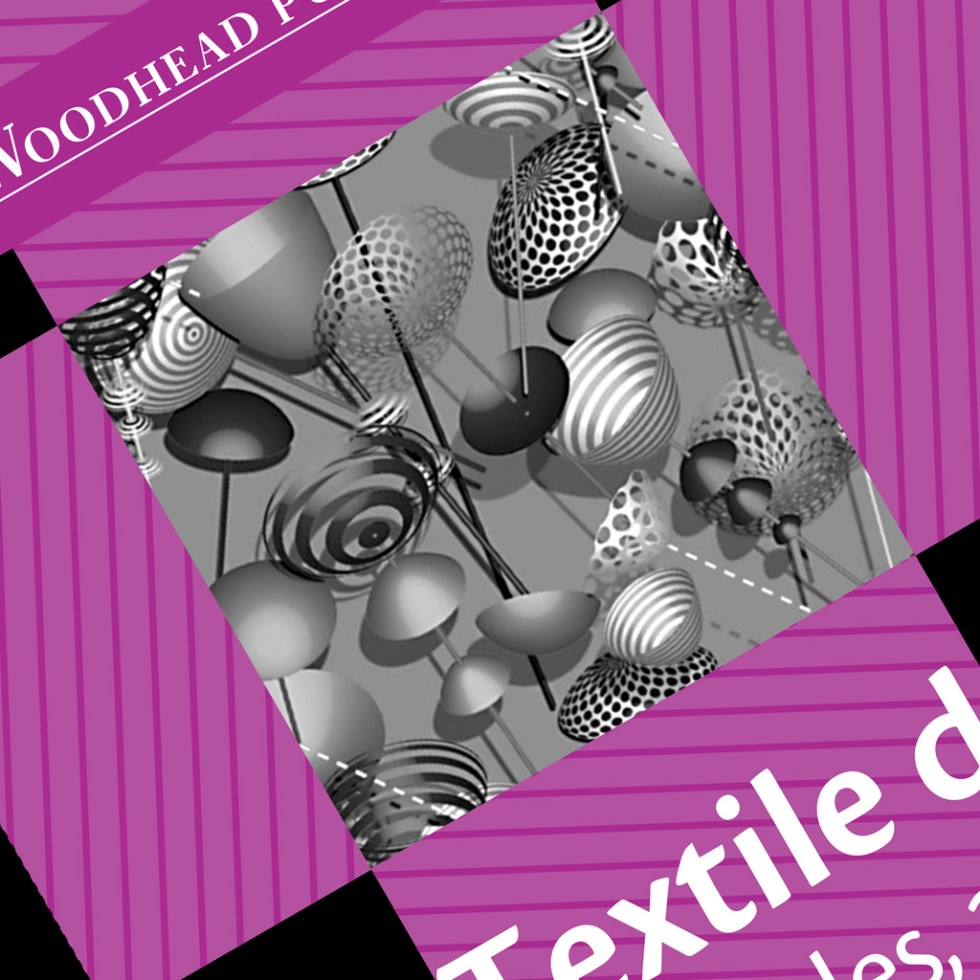 """CalyxRmx by Alex Russell on the cover of Briggs-Goode and Townsend's """"Textile design"""" book"""