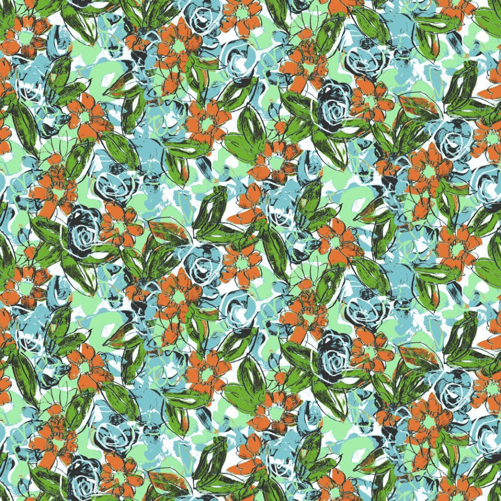 Colourway of PainterlyFloral by Alex Russell