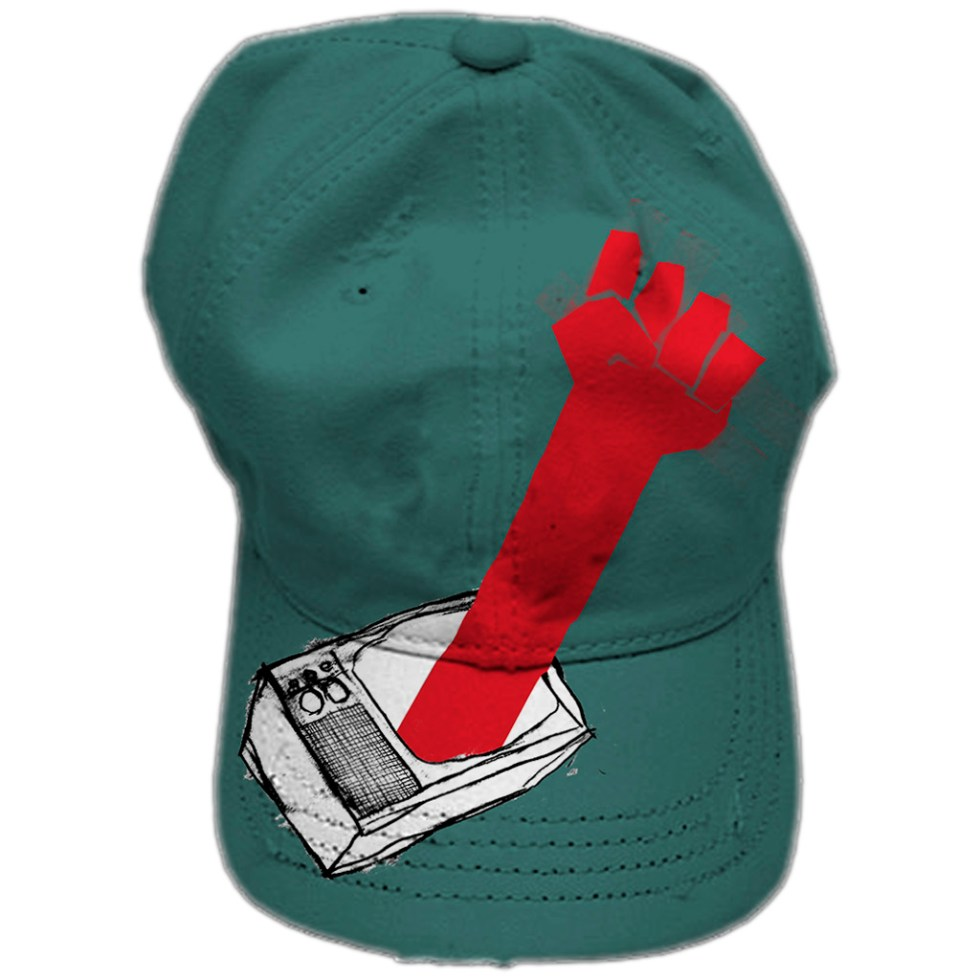 Illustration as hat of TVFist by Alex Russell