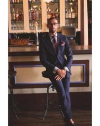 """Man in a Suit"" Theory Suit, Ralph Lauren Shirt, Burberry Tie, Zegna Pocket Square"