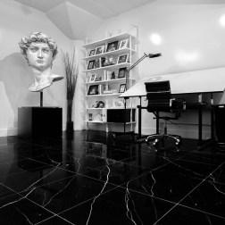 Jon Cha's Studio - Marble Floors