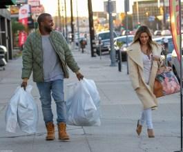 Kanye x Blue Denim Jeans + Grey Shirt + Jacket