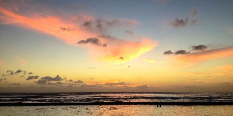 First Hawaii Sunset