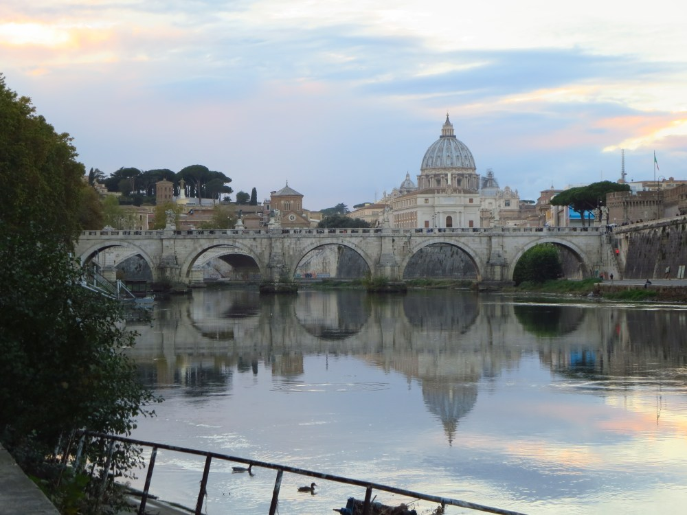 River and Saint Peter's at Sunset
