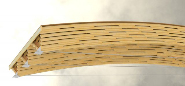 Richmond Oval Beams (Image by StructureCraft)