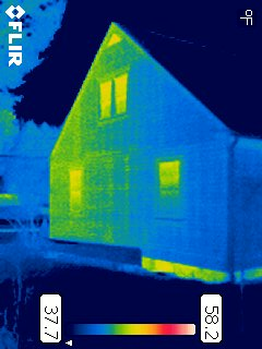 Original IR image from FLIR camera
