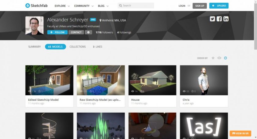 Sketchfab Uploader Extension for SketchUp – by [as]