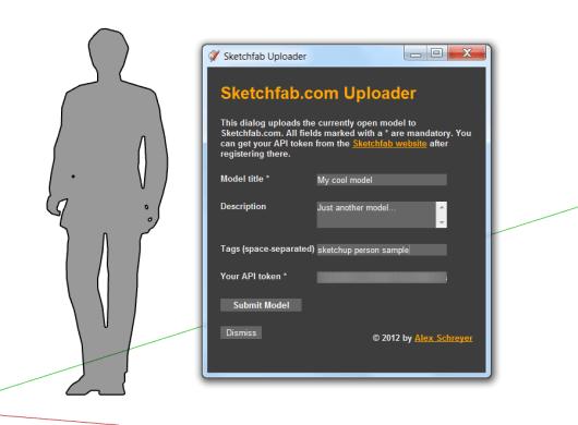 Sketchfab uploader