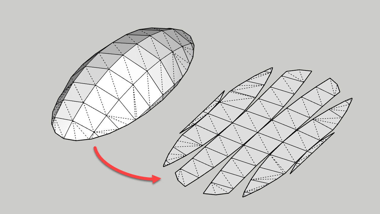 Unwrap And Flatten Faces Extension For Sketchup By As