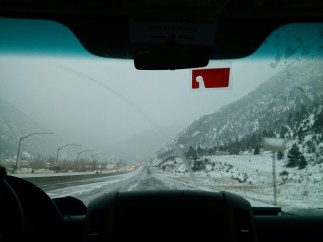 The drive to Vail - in a late-season blizzard
