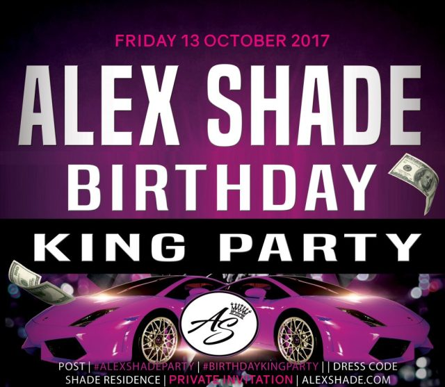 Alex Shade Birthday Party Date