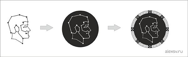 Sozdaem_logotype_dlya_mebelnoy_fabriki_v_drevnegrecheskom_style_Создаём_логотип_для_мебельной_фабрики_второй_вариант_добавл_небо_логотипа