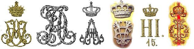 вензеля королей