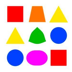 Формы объектов и соответствующие им цвета