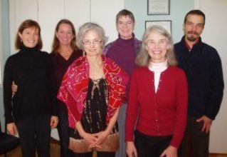 Alexander Technique teachers at the November 2012 exchange meeting (L-R): Imogen Ragone, Diane Young Sussman, Andrea Bruno, Lelia Calder, Martha Hansen Fertman, Joe Arnold