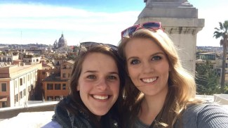 Elise and I on the Spanish Steps